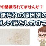 壁紙が汚れてしまう原因とケース別の3つの対処方法まとめ!