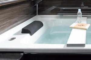 アクリアバスは「高断熱浴槽」により4時間後でも湯温が冷めない!